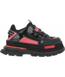 сникеры art alternative 1640 multi leather black-pink / art core 2