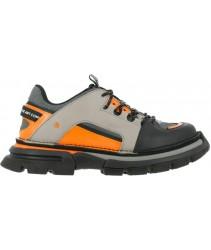 сникеры art alternative 1650 multi leather grey-orange / art core 1