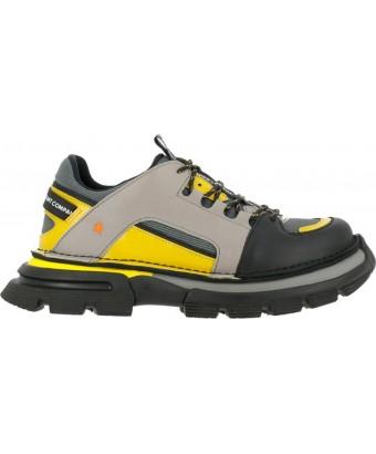 сникеры art alternative 1650 multi leather grey-yellow / art core 1