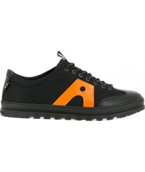 кеды art 1527 multi leather black-orange/mainz