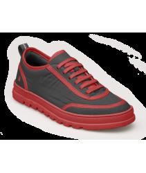 сникеры art 1529 nylon black-red/mainz