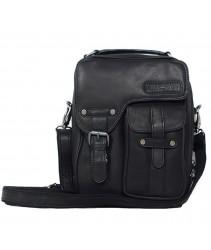 сумка мужская hill burry 3060 black из вощёной кожи saddle leather