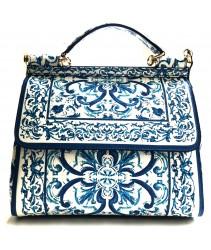 сумка emanuela feretti 4128 bianco e blu