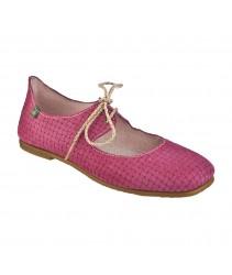 балетки el naturalista N960 suede trenzado pink / croché