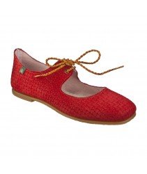 балетки el naturalista N960 suede trenzado red / croché